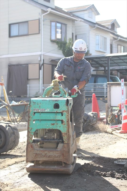 管工事(水道・ガス・下水)・土木工事業務風景